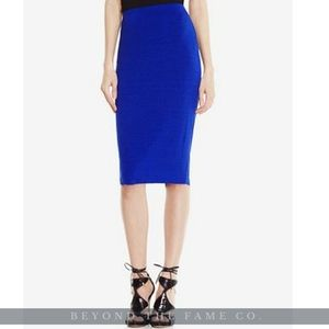 NWT Vince Camuto Stretch-Knit Pencil Skirt BLUE